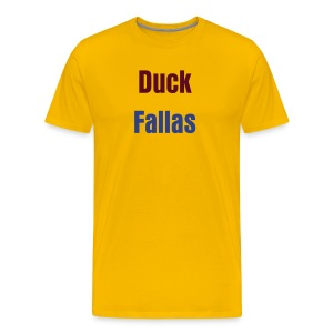 Duck Fallas Burgundy Warpath Tee - Men's Premium T-Shirt