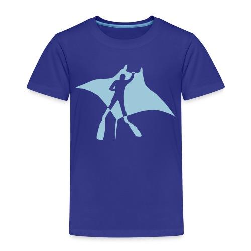 animal t-shirt manta ray scuba diver diving dive fish sting ray - Toddler Premium T-Shirt