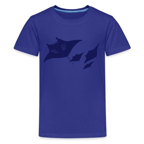 animal t-shirt manta ray scuba diver diving dive fish sting ray - Kids' Premium T-Shirt