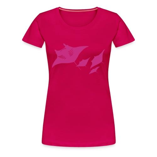 animal t-shirt manta ray scuba diver diving dive fish sting ray - Women's Premium T-Shirt