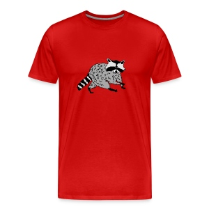 animal t-shirt raccoon racoon coon bear - Men's Premium T-Shirt
