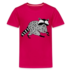 animal t-shirt raccoon racoon coon bear - Kids' Premium T-Shirt
