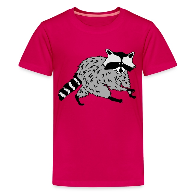 animal t-shirt raccoon racoon coon bear