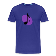 T-Shirts ~ Men's Premium T-Shirt ~ Purple Music Emblem (Black)