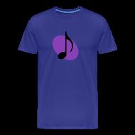 T-Shirts ~ Men's Premium T-Shirt ~ Purple Music Emblem (Black)