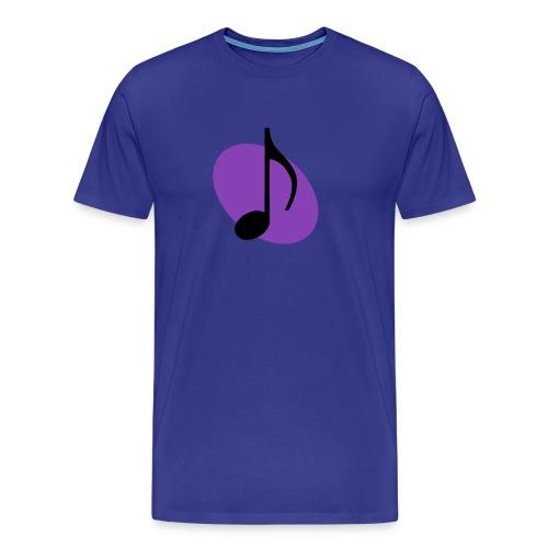 Purple Music Emblem (Black) - Men's Premium T-Shirt