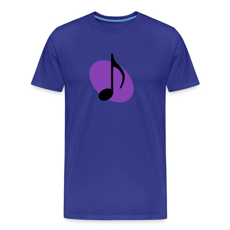 Purple Music Emblem (Black) - Men's Premium T-Shirt