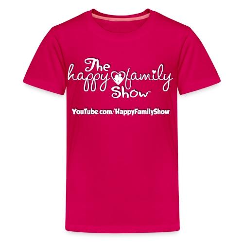 Happy Family Show Kids White Logo T-Shirt - Kids' Premium T-Shirt