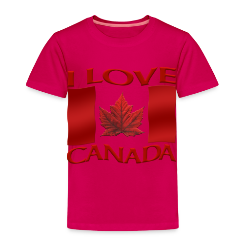 Kid's I Love Canada Shirts Girl's Canada Souvenirs Gifts - Toddler Premium T-Shirt