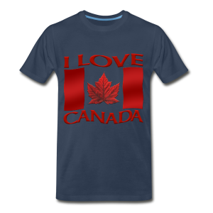 Men's Canada T-shirt I Love Canada 3XL Shirts Souvenir - Men's Premium T-Shirt