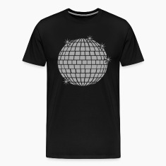 disco mirror ball with stars - 1 Color T-Shirts
