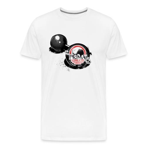 Primal Old School Dumbbell Logo - Men's Premium T-Shirt