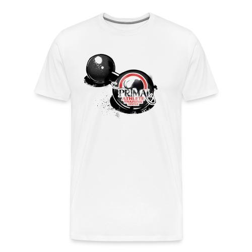 Primal Old School Dumbbell Logo 3XL & 4XL - Men's Premium T-Shirt