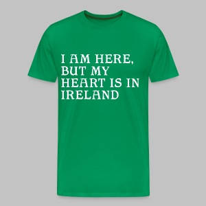 Heart is in Ireland - Men's Premium T-Shirt