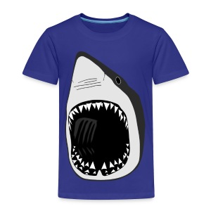 animal t-shirt white shark jaws fish fishing diver scuba diving sharks - Toddler Premium T-Shirt