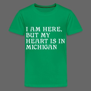 Heart is in Michigan - Kids' Premium T-Shirt