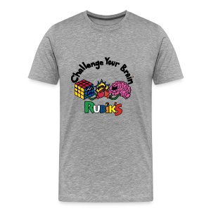 Rubik's Cube Challenge Your Brain - Men's Premium T-Shirt