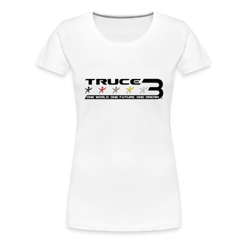 Truce 3 World Peace Womens T-shirt White - Women's Premium T-Shirt