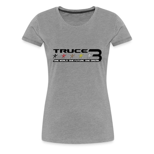 Truce 3 World Peace Womens T-shirt Ash - Women's Premium T-Shirt