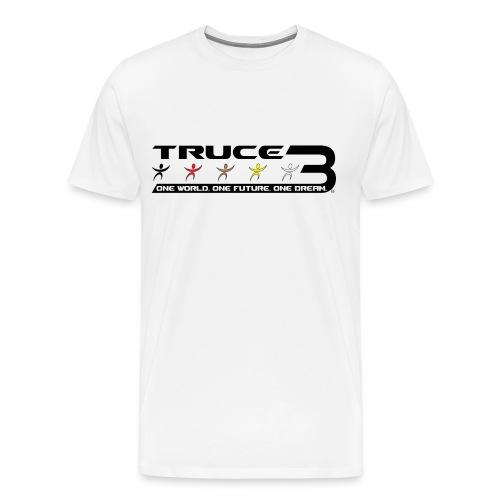 Truce 3 World Peace Mens T-shirt White - Men's Premium T-Shirt