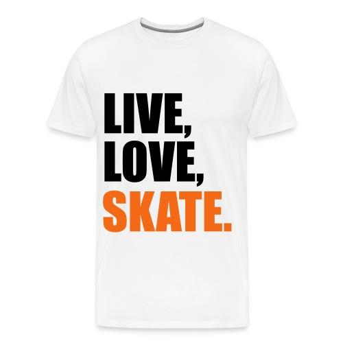 Live, Love, Skate - Men's Premium T-Shirt