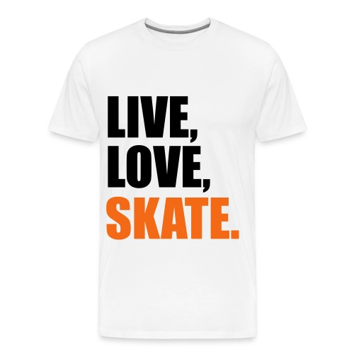 Live, Love, Skate - Men's Premium T-Shirt