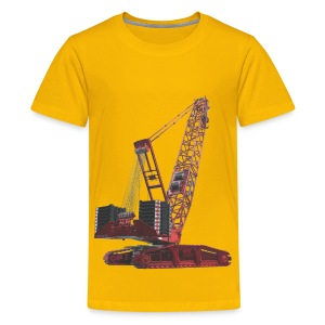 Crawler Crane 750t - Red - Kids' Premium T-Shirt