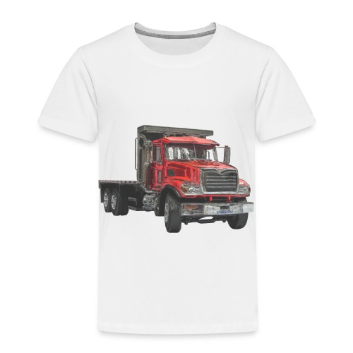 Flatbed Truck - Red - Toddler Premium T-Shirt