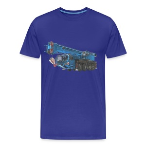 Mobile Crane 4-axle - Blue - Men's Premium T-Shirt