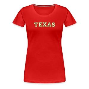Texas T-Shirt Red/Gold - Women's Premium T-Shirt