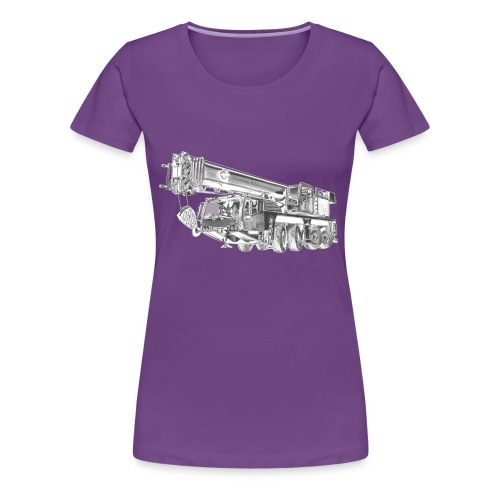 Mobile Crane 4-axle - Women's Premium T-Shirt