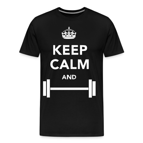 Keep Calm and Work Out - Men's Premium T-Shirt