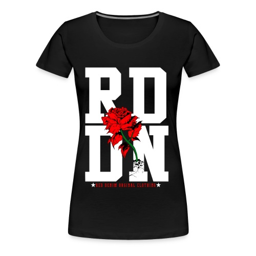 RD Roses Black/White/Red for Women Plus Size - Women's Premium T-Shirt