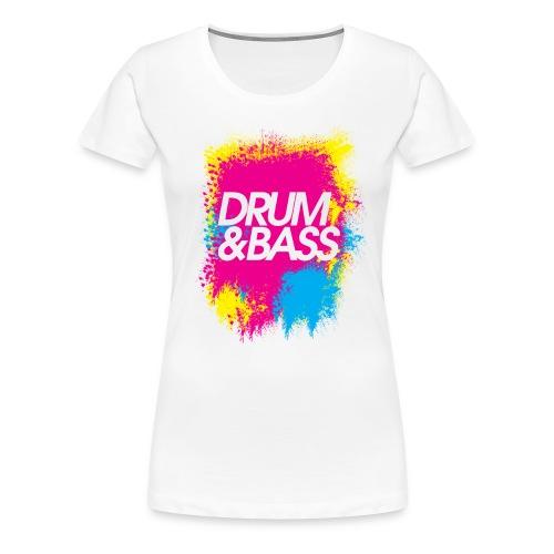 Drum&Bass Paint Splatter - Womens - Women's Premium T-Shirt
