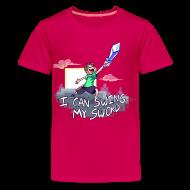 Kids' Shirts ~ Kids' Premium T-Shirt ~ I Can Swing My Sword (Minecraft Diamond Sword Song) (Children)