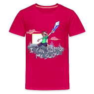 Kids' Shirts ~ Kids' Premium T-Shirt ~ I Can Swing My Sword (Minecraft Diamond Sword Song) (Children)