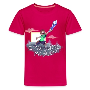 I Can Swing My Sword (Minecraft Diamond Sword Song) (Children) - Kids' Premium T-Shirt