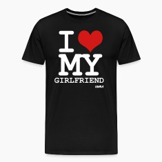 i love my girlfriend by wam T-shirts (manches courtes)