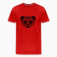 A panda bear head in the style of Sugar Skulls  T-Shirts