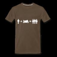 T-Shirts ~ Men's Premium T-Shirt ~ Motorbiker & Women