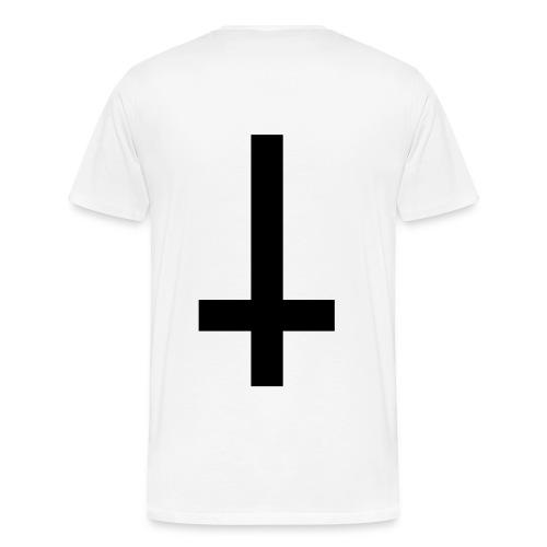 No God - Baphomet / Inverted Cross (3XL/4XL) - Men's Premium T-Shirt