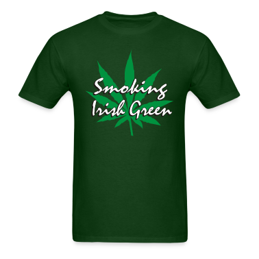 Smoking Irish Green T-Shirt