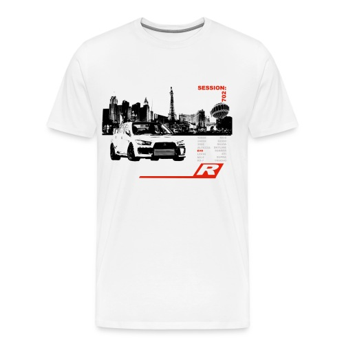 Drift-R Las Vegas White T-shirt - Men's Premium T-Shirt