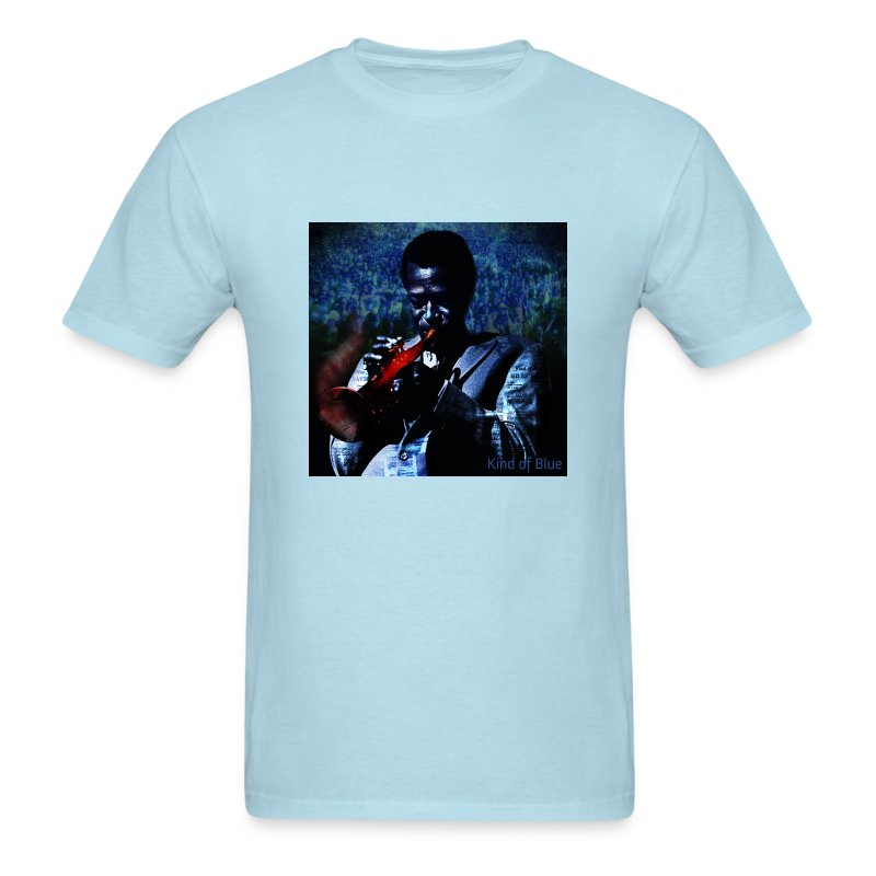 Kind of blue miles davis t t shirt spiffy liffy for Miles t shirt shop