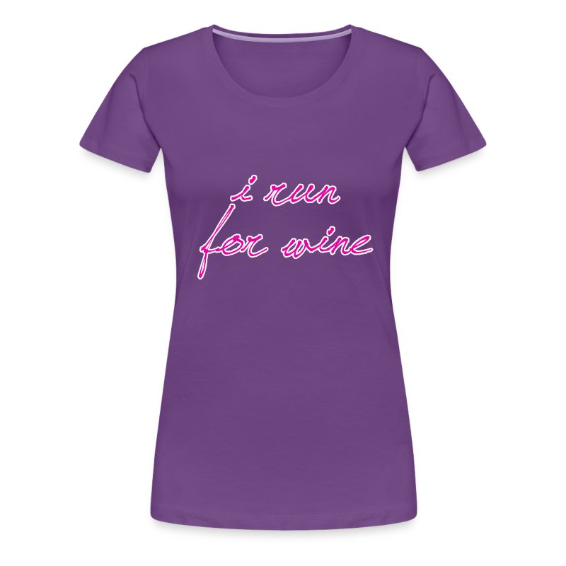 I run for wine - Women's Premium T-Shirt