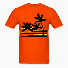 Surfing Surfer Palm Trees Caribbean Hawaii T-Shirt
