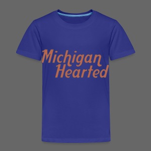 Michigan Hearted - Toddler Premium T-Shirt