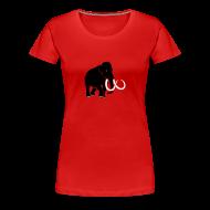T-Shirts ~ Women's Premium T-Shirt ~ animal t-shirt mammoth elephant tusk ice age mammut