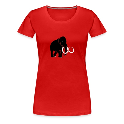 animal t-shirt mammoth elephant tusk ice age mammut - Women's Premium T-Shirt