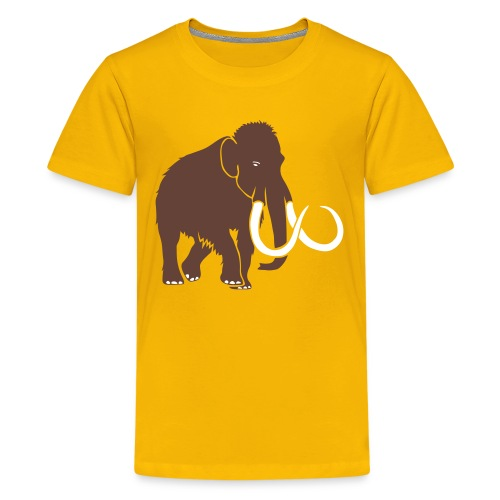 animal t-shirt mammoth elephant tusk ice age mammut - Kids' Premium T-Shirt